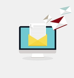Sending emails and receiving mail Email vector image