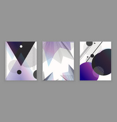 set of 3 abstract universal backgrounds vector image