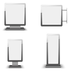 Set of different light boxes vector image