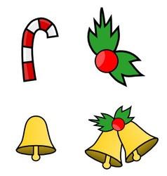 Simple Christmas Logos vector