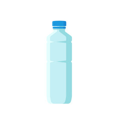 Small plastic bottle with blue lid empty vector