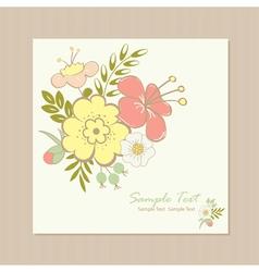Spring floral card vector