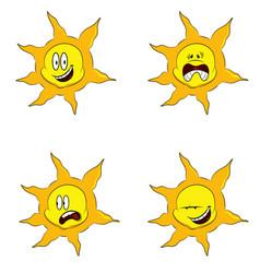 Sun emoticons vector