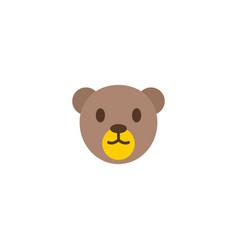 Teddy bear icon flat element vector