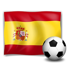 The flag of Spain and the soccer ball vector