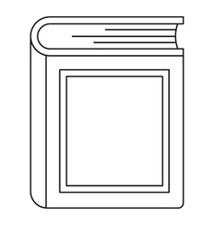 Thick book icon outline style vector image