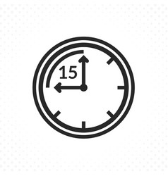 time symbol of fifteen minutes vector image