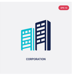 Two color corporation icon from business concept vector