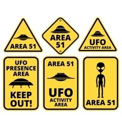 Ufo danger vector