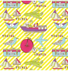 Vintage Travel Wallpaper Royalty Free Vector Image
