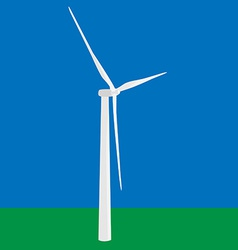 Wind turbine in the field vector image