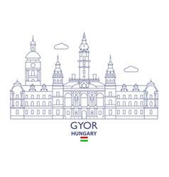 gyor city skyline vector image