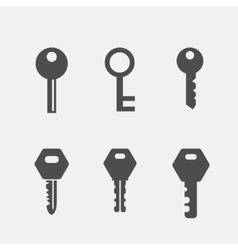 Keys flat icons set vector image vector image