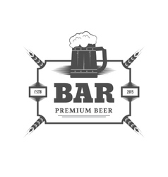 Beer bar sign vector image