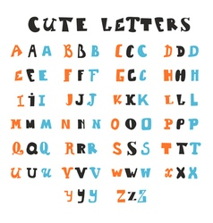 Funny alphabet letters Hand drawn fonts vector image vector image
