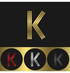 K Letter logo vector image vector image