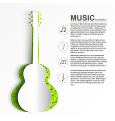 musical abstract template vector image vector image