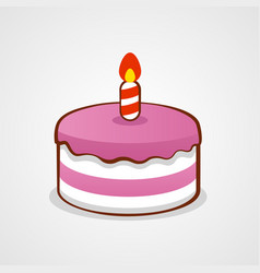pink birthday cake birthday or anniversary vector image