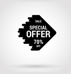 sale sticker with hand drawn elements in black and vector image