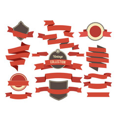 coloring banners ribbons and badges set in modern vector image