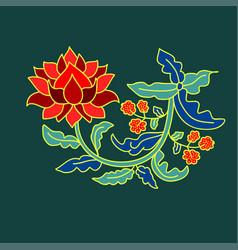 Floral decorative element vector