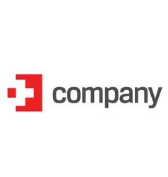 medicine red cross logo vector image