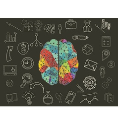 colourful brain vector image