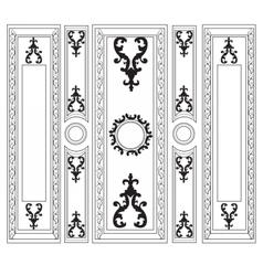 Decorative Damask Ornamented frames for walls vector image