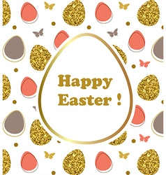 Decorative Easter background vector image