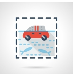 Flood flat color design icon vector image vector image