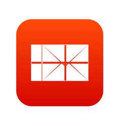 postal parcel icon digital red vector image vector image
