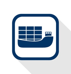 ship flat icon vector image vector image