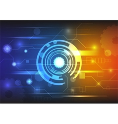 technology background colorful vector image