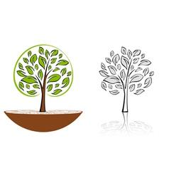 tree emblem 6 vector image vector image