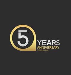 5 years anniversary celebration simple design vector