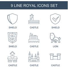 9 royal icons vector