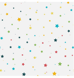 Abstract seamless pattern colorful stars vector