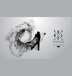 abstract silhouette a golf player golfer vector image