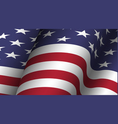 america flag background collection waving design vector image