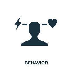 Behavior icon monochrome style design from vector