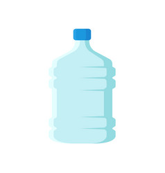 Big bottle for mineral water large plastic vector