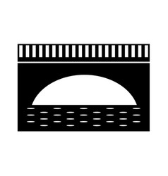 Bridge isolated icon vector