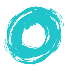 brushstroke circle form vector image