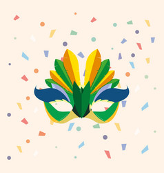 Carnival mask design vector