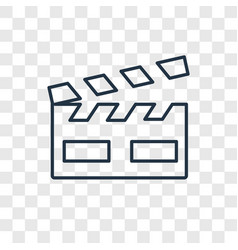 clapperboard concept linear icon isolated on vector image
