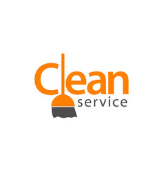 Clean service logo template design vector