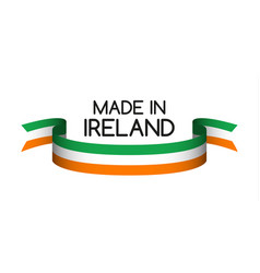 colored ribbon with the irish tricolor vector image vector image