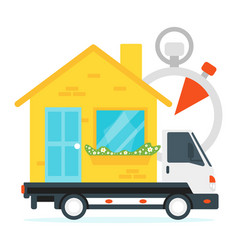 concept for moving home vector image