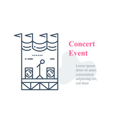 concert stage public event organizing festival vector image