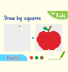 Copy picture game for small children draw an vector